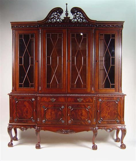 dining room china cabinets claw four door mahogany dining room china cabinet ebay