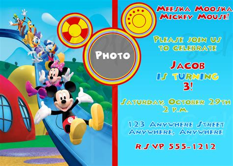 pre sale mickey mouse clubhouse birthday invitation 10 00 via etsy trace s 3rd