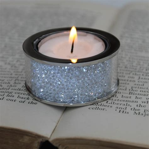 Small Swarovski Crystal Filled Tea Light Candle Holder Tea Light Candle Holders
