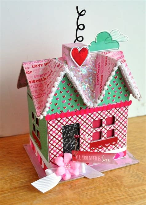 Decoupage House - diy s day paper mache house mod podge rocks