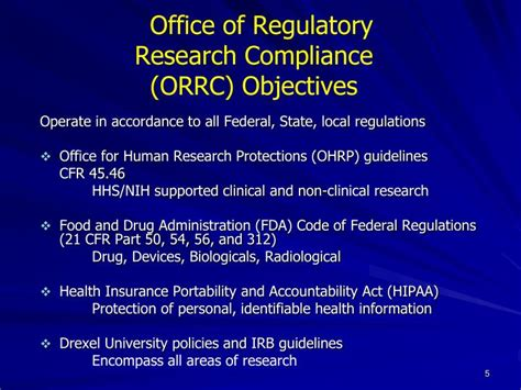 Office Of Compliance by Ppt Institutional Review Board Irb Overview For