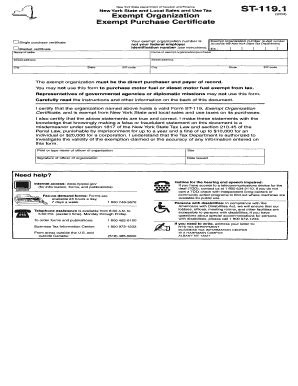 Do You Qualify For Exemption From The Records 2004 Form Ny Dtf St 119 1 Fill Printable Fillable Blank Pdffiller