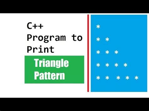 program for triangle pattern using c program to print triangle pattern youtube