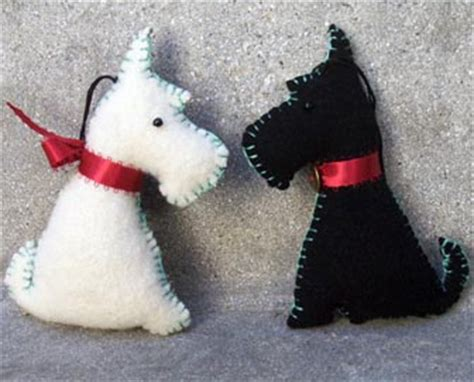 black & white scottie dog ornaments | from my own pattern