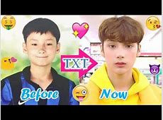 TXT HUENINGKAI - Predebut Vs Now : Before and Now - YouTube .txt