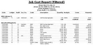 job cost report filtered images frompo