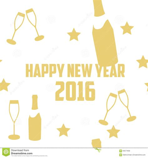 new year template 2016 new year 2016 vector template stock photo image 63577656