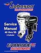 1998 Johnson Evinrude Quot Ec Quot 40 Thru 55 2 Cylinder Service