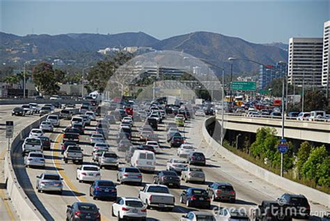 405 fwy traffic los angeles editorial stock photo image