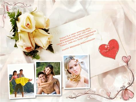 3 Year Anniversary Card Template by Anniversary Collage Card Add On Templates Free