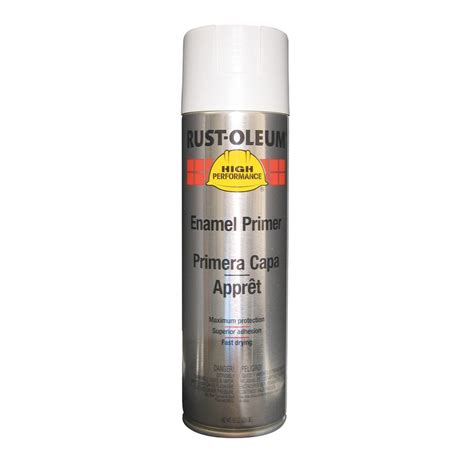 spray paint white shop rust oleum high performance white primer spray paint