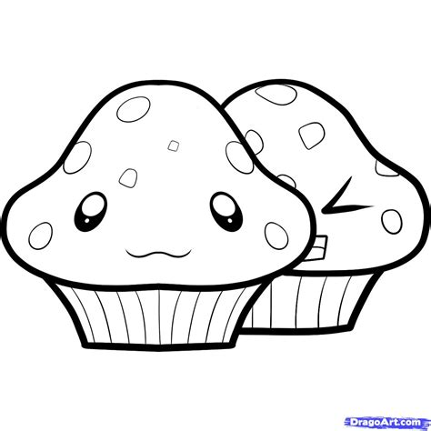 Simple Things To Draw by How To Draw Muffins Muffins Step By Step Food Pop