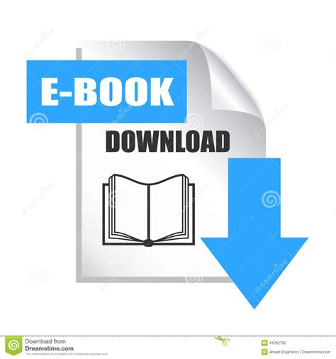book free download e book download icon stock vector image 41262795