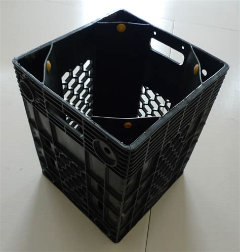 crate water bottle strangely chic water crate garbage can the garbage bag question