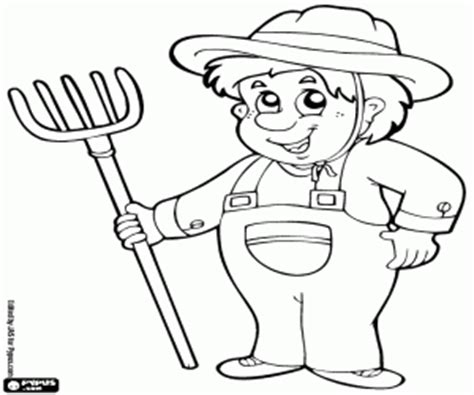 coloring book pitchfork farmers coloring pages printable