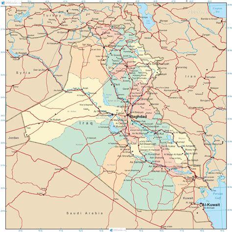 map of iraq карта ирака административное деление map of iraq