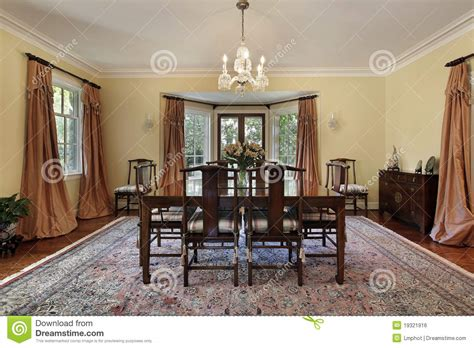 Dining Room With Patio Doors Dining Room With Doors To Patio Royalty Free Stock Image