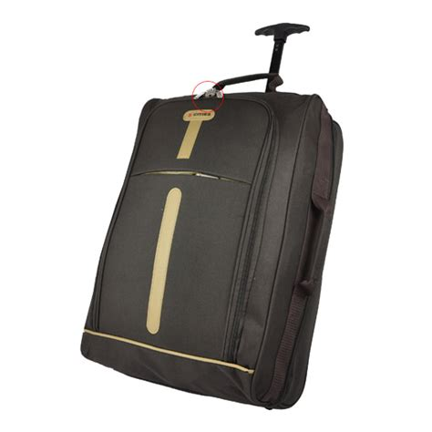 cabin suitcase size brown cabin size lightweight wheeled luggage trolley