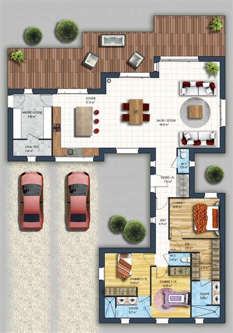 Maison Bois De Plain Pied Avec 233 Tage Am 233 Nageable Nos plan maison etage 4 chambres 1 bureau excellent cette