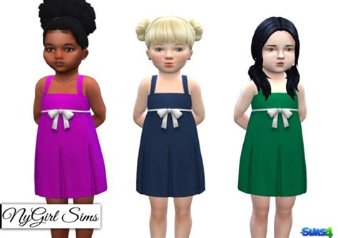 js sims 4 bow collar dress sims 4 bow dress ny girl sims pleated tank dress with bow