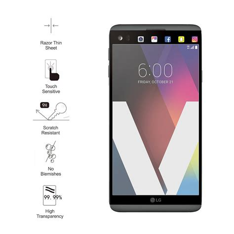 Tempered Glass Ume Lg V20 9h tempered glass screen protector lg v20 clear