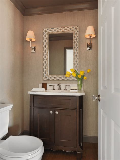 Powder Bath Vanity Transitional Powder Room Vanity Beck Allen Cabinetry