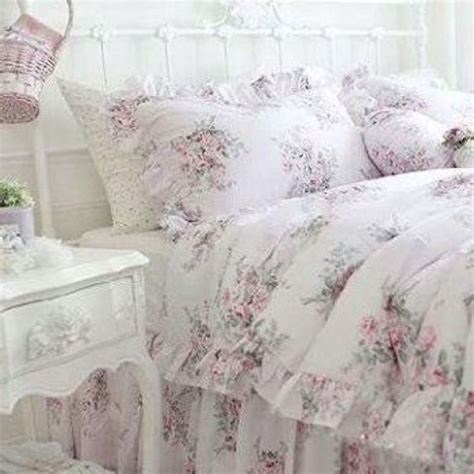 details about king queen full twin princess shabby floral chic pink duvet comforter cover set