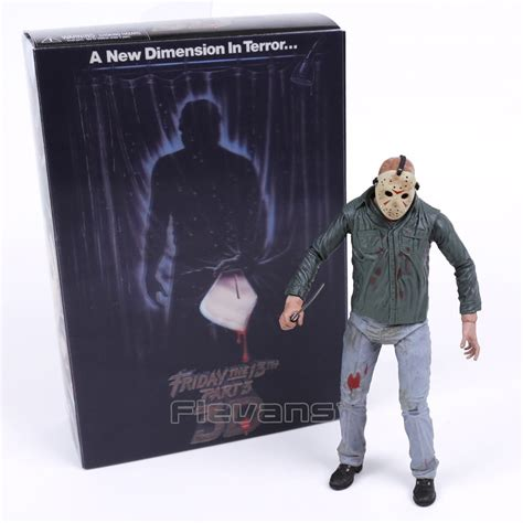 Neca Friday The 13th Jason 18 Inch neca friday the 13th part 3 3d jason voorhees figure collectible model 7inch 18cm in