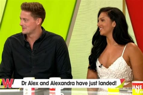 love island aftersun celebrity panel love island s alex miller and alexandra cane pictured