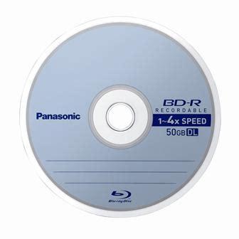 Panasonic Blueray Disk Media 25gb T2909 panasonic spins 4x recordable discs the