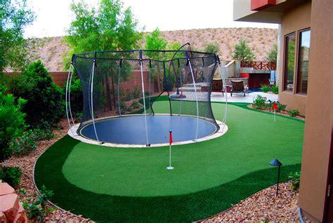part putting green part trampoline  fun