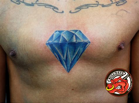 tattoo diamond blue blue diamond tattoo by dirkdriekusbullseye on deviantart