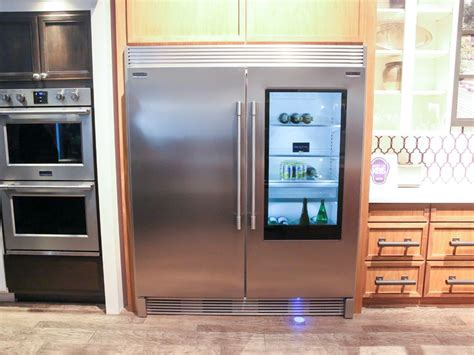frigidaire s new fridge makes its glass door clear when