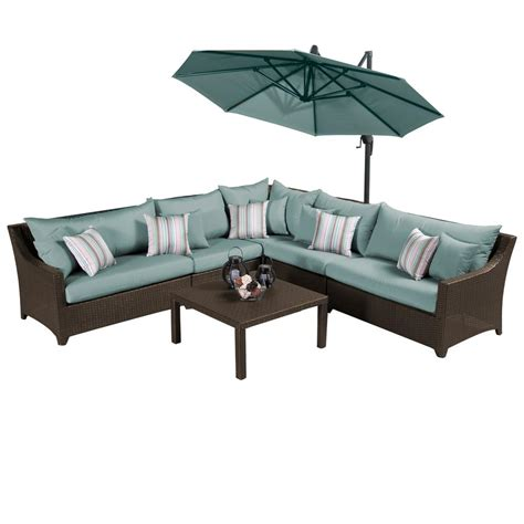 rst brands deco 6 all weather patio sectional set