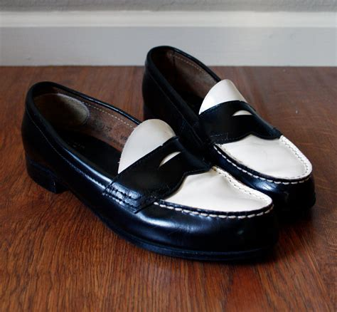 black and white loafers bass wayfarer black and white loafers 8 5 9
