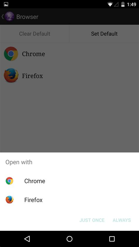 how to change default apps browser mail etc on
