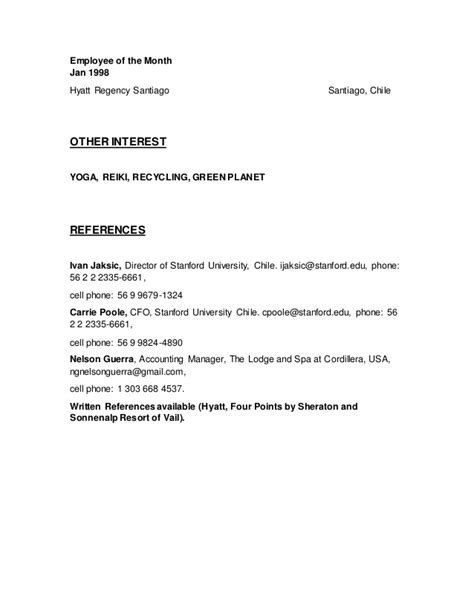 employee of the month resume resume ideas