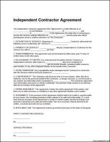independent contractor agreement template free download