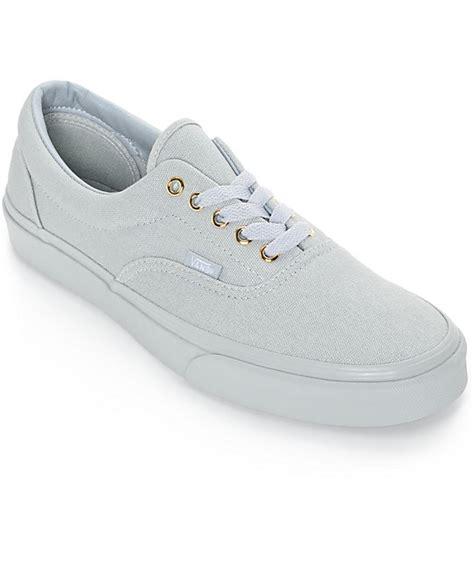 vans era grey vans era gold mono high rise grey skate shoes