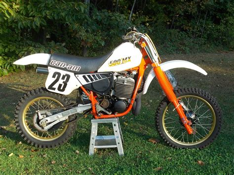 can am motocross bikes 1984 can am 500mx very nice low use survivor 500cc