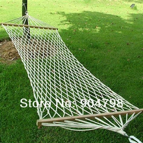 Cheap Hammock Swings Portable Cotton Wide Solid Wood Hammock Hang