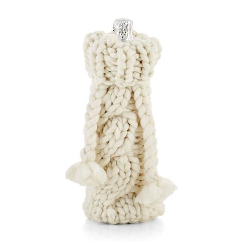 knitted wine bottle cozy cozy cable knit sweater wine bottle covers so that s cool