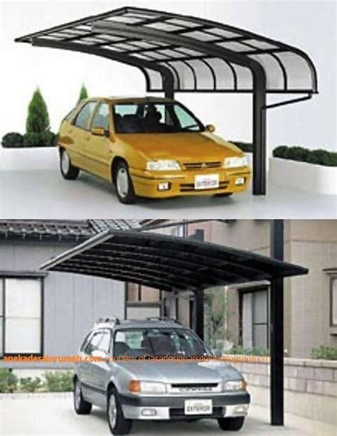 desain garasi mobil terbuka kanopi kaca transparan garasi mobil dan tempat parkir