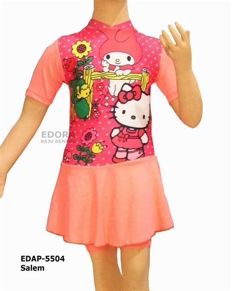 Baju Renang Anak Muslimah Baju Renang Anak Perempuan Karakter Edap Baju Renang Muslim