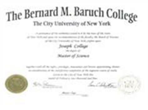 Mba Majors Baruch by Diploma Diploma Baruch College