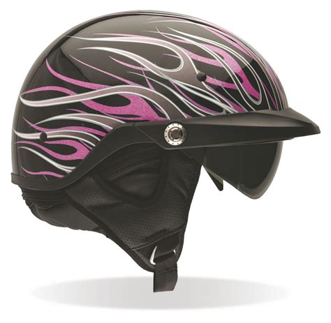ladies motorcycle helmet bell women s pit boss pink flames helmet size 2xl only