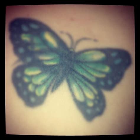 tattoo butterfly green pin blue green butterfly shoulder tattoos on pinterest