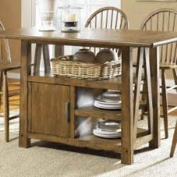 rustic casual dining room with counter height tables set