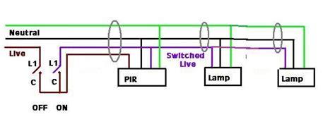 wiring diagram  standalone pir  multiple security