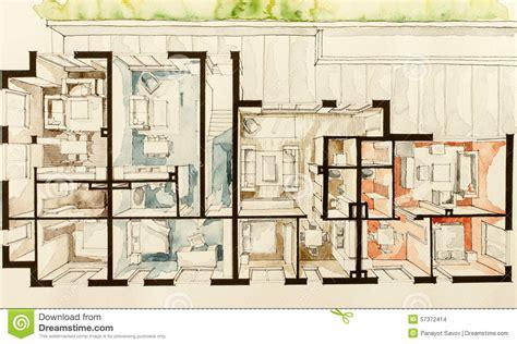 building layout en español disegno a mano libera di dimentional 3d di schizzo tre